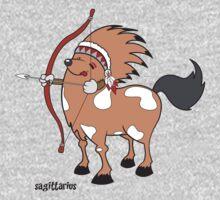 funny zodiac/sagittarius Kids Clothes