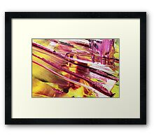 an abstract sunset Framed Print