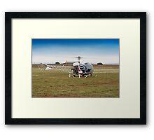 Bell 47 Helicopter Framed Print