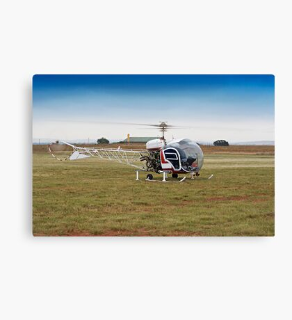 Bell 47 Helicopter Canvas Print