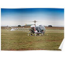Bell 47 Helicopter Poster