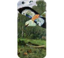 Blue Roller Bird Art iPhone Case/Skin