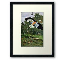 Blue Roller Bird Art Framed Print
