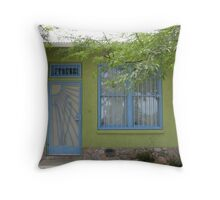Green House in the Barrio Throw Pillow
