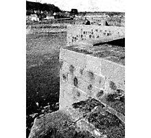 Etching Granite Photographic Print