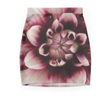 Purple And White Dahlia Mini Skirt