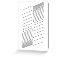 blinds, lines, stripes Greeting Card