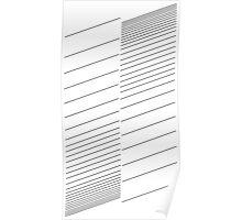 blinds, lines, stripes Poster