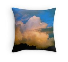 Cloud Imaginations:  Apricot Poodle Throw Pillow