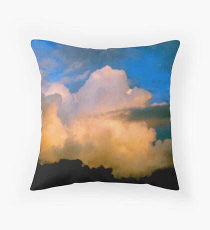 Cloud Imaginations:  Apricot Poodle Throw Pillow