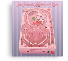 Pinball Machine of Love Infographic Canvas Print