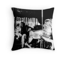 Carousel in Infrared Throw Pillow