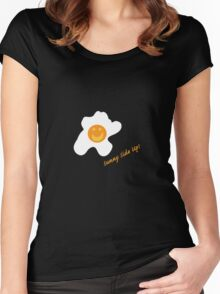 Sunny Side Up! Women's Fitted Scoop T-Shirt