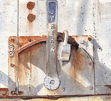 Work Trailer Lock Number One by Ken Powers