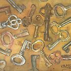 Assorted Skeleton Keys by Ken Powers