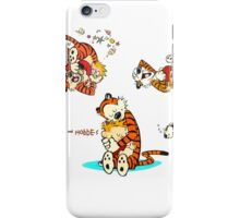 Calvin and Hobbes all moment in day iPhone Case/Skin