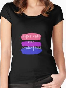 Super Cute and Genderfluid Women's Fitted Scoop T-Shirt