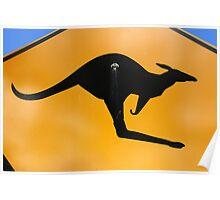 Kangaroos Ahead Poster