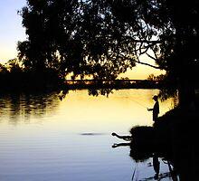 Fishing at Dusk by captivevisuals