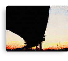 Freeway Overpass at Sunset Canvas Print