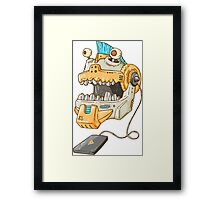 Robotic Piranha Framed Print
