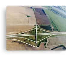 Aerial Highway Overpass Intersection Canvas Print
