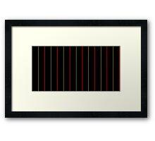 Gryffindor Pin Stripes Framed Print