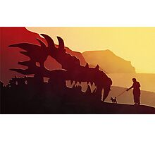 Dog & Dragon, Who's Best ? Photographic Print