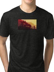 Dog & Dragon, Who's Best ? Tri-blend T-Shirt