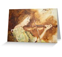 Trish with violin Greeting Card
