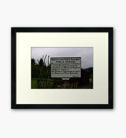 Do Not Cross Framed Print