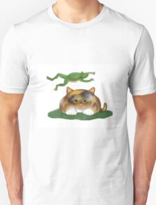 Leap Kitty played by Frog Unisex T-Shirt