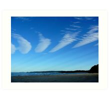 CLOUDS WITH RAYS Art Print