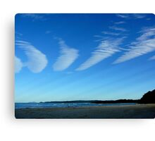 CLOUDS WITH RAYS Canvas Print
