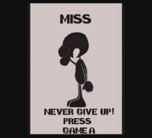 Game and watch Never Give Up by jibberkit