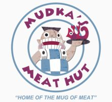 Mudka's Meat Hut Logo Kids Tee