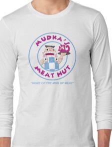 Mudka's Meat Hut Logo Long Sleeve T-Shirt
