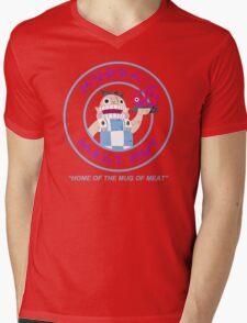 Mudka's Meat Hut Logo Mens V-Neck T-Shirt