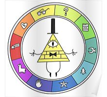 Rainbow Bill Cipher Wheel Poster