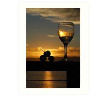 Sunset Drinks Art Print