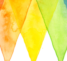 Abstract Triangles Geometric Shapes Watercolor Rainbow Sticker
