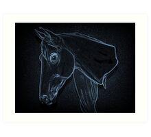 Equine Outline Art Print