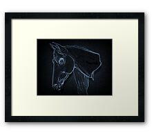 Equine Outline Framed Print