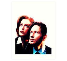 Scully Mulder X Files  Art Print