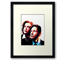 Scully Mulder X Files  Framed Print