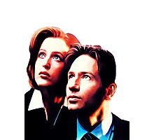 Scully Mulder X Files  Photographic Print