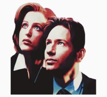 Scully Mulder X Files  T-Shirt