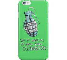 Alphabet grenade iPhone Case/Skin