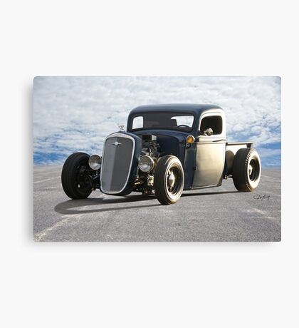 1936 Chevy Rat Pickup 'The Accomplice' Canvas Print