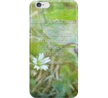As long as the world shall last - inspirational iPhone Case/Skin
